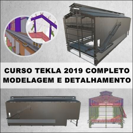 Curso Tekla Modelagem e Detalhamento de Galpão Industrial Completo