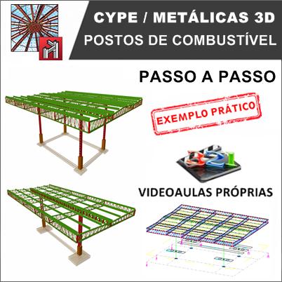 Curso Cype / Metalicas 3D 2019/2020 Postos de Combustível