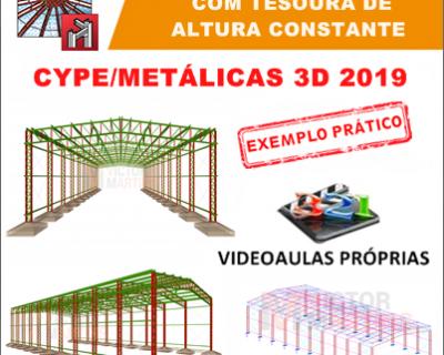 Curso Cype / Metalicas 3D 2019/2020 Pilar Treliçado com Tesoura de Altura Constante