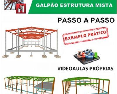 Curso Cype / Metalicas 3D 2019/2020 Galpão Misto