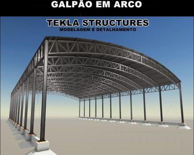 Curso Tekla Structures 2019 Galpão em Arco  (Modelagem e Detalhamento)