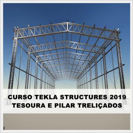 Curso Tekla Structures 2019 Pilares e Cobertura Treliçados  (Modelagem e Detalhamento)