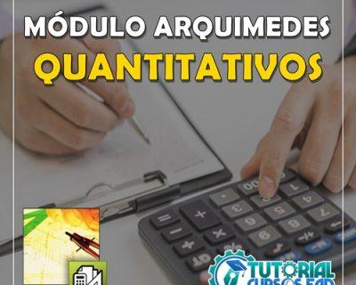 Curso Arquimedes  Módulo Quantitativos