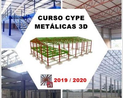 Curso Cype / Metalicas 3D 2019/2020 Estrutura Metálica de Galpão e Mezanino